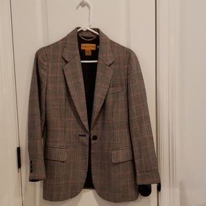 Classiques Entier petite checked wool blazer